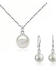 Солнечный женская серьга перлы ожерелье из двух частей