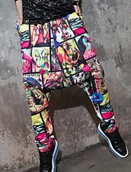 pantalones harén de impresión de hip hop de qlzw®women
