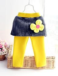 fleurs, plus de coton le pantalon de fille