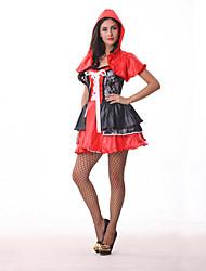 Costumes de Cosplay / Costume de Soirée Conte de Fée Fête / Célébration Déguisement Halloween Rouge Mosaïque Robe / ChapeauHalloween /