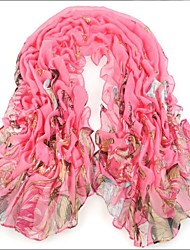 Ultralarge Red  Bali Yarn Scarf Cotton Cape Spring And Autumn Long Design Autumn And Winter Women's Scarf