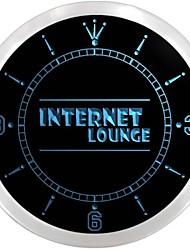 sala de internet cafe loja sinal de acesso neon relógio de parede led