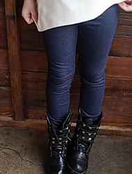 Girl's Winter Faux Denim Fabric Leggings