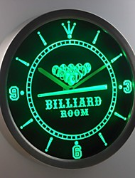 nc0449 Billiards Room Game Bar Beer Neon Sign LED Wall Clock