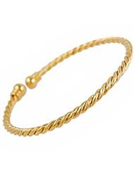 vrouwen vintage lichtmetalen ketting gedraaid touw vorm klassiek design armbanden