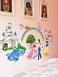 Doudouwo® Wall Stickers Wall Decals, Pepole the Infante and Princess Snow White PVC Wall Sticker