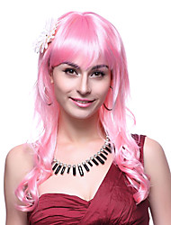 Sweet Princess Long Curly Hair Pink 48cm Women's Halloween Party Wig
