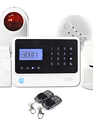 GS-G90E High Stability Wireless Gsm Home Burglar Security Alarm System with LCD Display