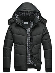 branchés hoodies chaleureuses et confortables de meroketty®men tirette manteau rembourré