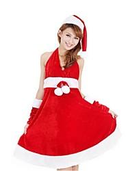 dulce princesa lycra rojo de la mujer traje de la Navidad