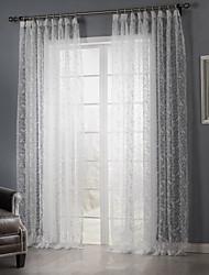 dos paneles país hoja dormitorio blanco tonos pura cortinas