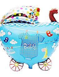 Blue Baby Carriage Aluminium Membrane Baby Shower Birthday Party Balloon(1 PCS)