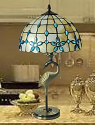 12 Inch Stained Glass Copper Material Tiffany Table Lamp