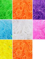 600pcs cor do arco-íris brilhante moda tear tear band (clipe 1package s, cores sortidas)