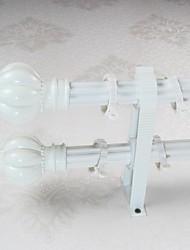 Aluminum Alloy Spray Lvory White Plum Pagoda Rome Rod Curtain Double Rod 04901-02