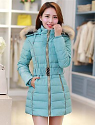Women's In Raccoon Heavy Hair Get Long Down Cotton-padded Jacket