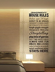 Wall Stickers Wall Decals, House Rules PVC Wall Stickers