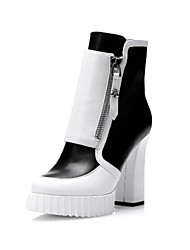 komanic Genuine Leather Women Platform Shoes High Heeled Ankle Hunters Boots Chaussure Homme