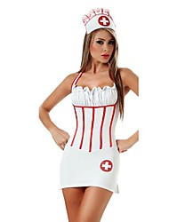 Women's  Halloween Sexy  Backless Nurse Cosplay  Costume (Includes Hat;Dacron)