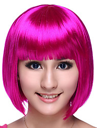 Cosplay Wigs Cosplay Festival/Holiday Halloween Costumes Fuschia Solid Wig Halloween / Carnival Female