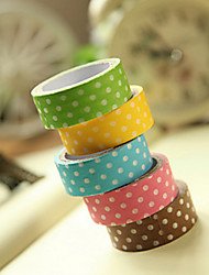 Simple Design Spot Pattern Scrapbooking Adhesives Tape(3m Random Color,1 PCS)