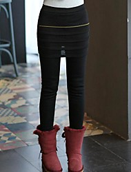 Women's Black/Gray Skinny Pants , Casual