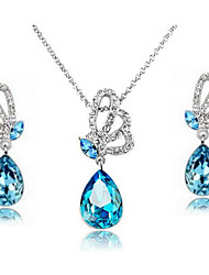Ysk Masterly Craft Manufacture Fashion Jewelry Refraction Gem Diamond Necklace Earrings Suit106