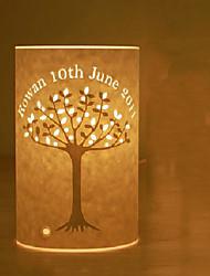 lámpara de pie 1 luz modelo clásico árbol pantalla de pergamino 220v