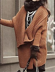 manga capa elegante das mulheres solta malha casaco