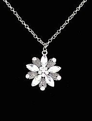 Crystal Flower Fashionable Elegant Necklace