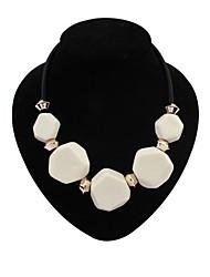 Women's EU&US Fashion Irregular Beads Cluster Bib Statement Necklace