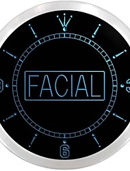 Facial Shop Beauty Salon Display Neon Sign LED Wall Clock