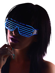 Light Up Shades Glasses with Blue EL Wire LED Glow Sunglasses 2AA Batteries