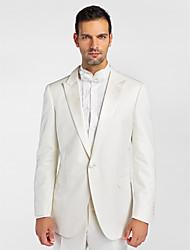 (Premium) White Polyeter Tailored Fit Two-Piece Tuxedo
