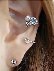 блестящие серьги с бриллиантами (2 шт)