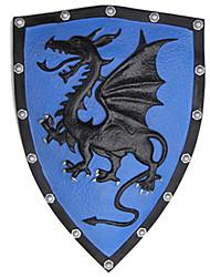 motif de dragon vif 35 * 45cm bleu bouclier pu Halloween