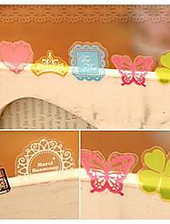 pvc adesivos decorativos (70 pcs cor aleatória)