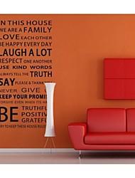 zooyoo® bonito pvc estilo jornal removível colorida de adesivos de parede adesivos de parede de venda quente para a decoração da casa
