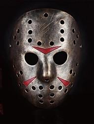 tueur jason masque de résine pour costume de halloween (d'or&wihte&brun) (1 pc)