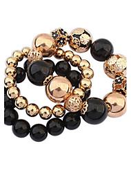 European Style Gold Beads Strand Bracelet