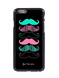 Personalized Gift Cool Mustache Design Metal Case for iPhone 6 Plus