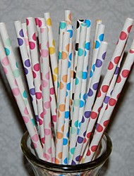 Baby Shower / Graduation / Prom / Birthday / Christmas / Halloween Party Tableware-25Piece/Set Straws Garden Theme PersonalizedYellow /