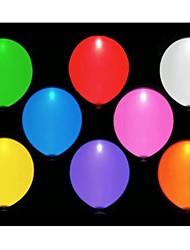 10pcs conduziu balloms (cor aleatória)