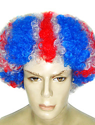 Afro Style American Flag Pattern 27cm Unisex Halloween Party Wig