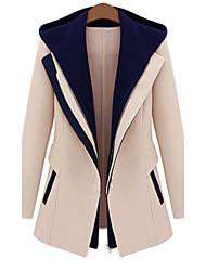 GYS Women's Loose Fit Zipper Long Sleeve Fashionable Elegant Coat