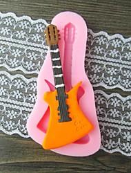 bolo de chocolate barro de resina molde de doces silicone fondant guitarra