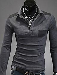 Тони мужские новая мода ассорти тонкий длинный рукав футболки