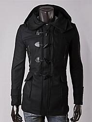 Men's Long Sleeve Regular Coat , Cotton/Polyester/Wool Blend