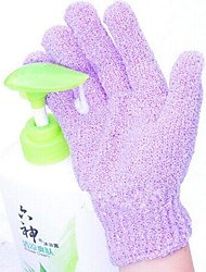 2шт увлажняющие спа ванне очистки ванны отшелушивающие перчатки для душа (случайный цвет)
