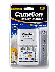 chargeur de batterie caméléon pour AA / AAA avec 4 pièces ni-mh batteries rechargeables AAA de 900mAh AlwaysReady